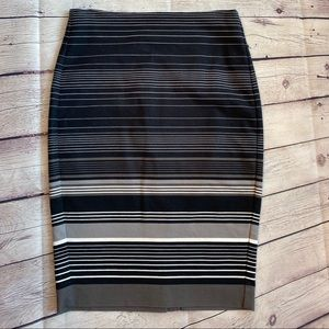 Banana Republic Striped Pencil Skirt | size 0